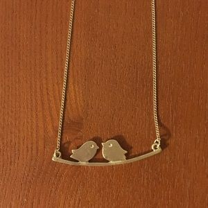 Two Birds Sitting on Branch Necklace